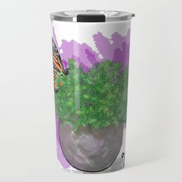 Water Color Butterfly Travel Mug