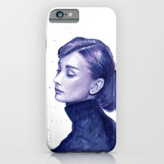 Audrey Hepburn Watercolor Portrait Slim Case iPhone 6s