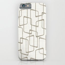 Reverse Medium Warm Gray Retro Geometric Pattern iPhone Case