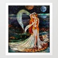 venus Art Prints featuring Venus  by ShekariArt