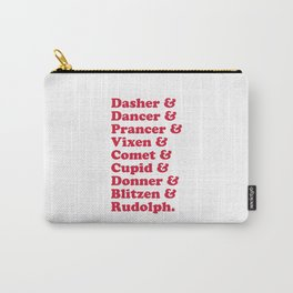 Reindeer Names Christmas Quote Carry-All Pouch