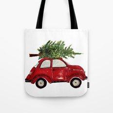 Red Christmas Beetle  Tote Bag