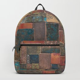 Etched Patina Patchwork Backpack