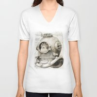 scuba V-neck T-shirts featuring scuba diving by PRIMATE