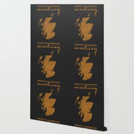 Distilleries of Scotland (woodpress) Wallpaper