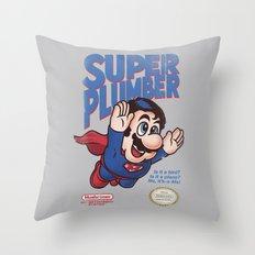 Super Plumber Throw Pillow