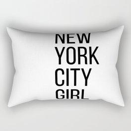 New York city girl Rectangular Pillow