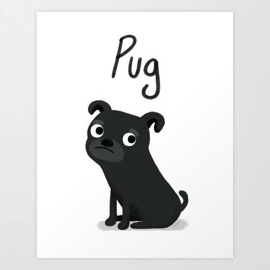 Pug - Cute Dog Series Art Print