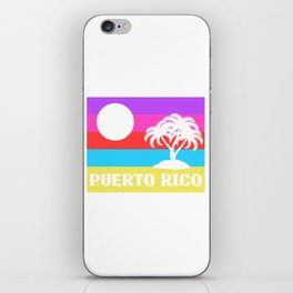 Here's A Great 80's design A Colorful 80's Design Saying Puerto Rico T-shirt Design Beach Summer iPhone Skin