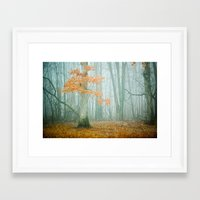 autumn Framed Art Prints featuring Autumn Woods by Olivia Joy St.Claire - Modern Nature / T