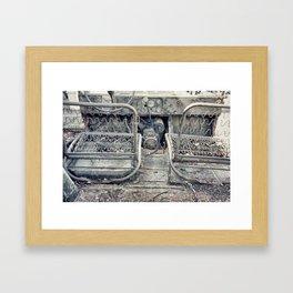 Backseat Driving Framed Art Print