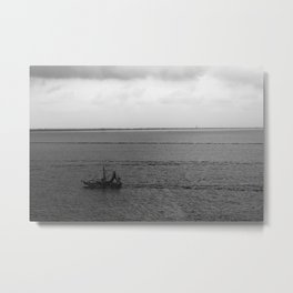 Heading Home with the Catch Metal Print