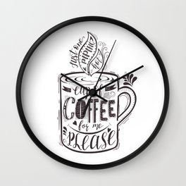 Cup of Coffe Wall Clock
