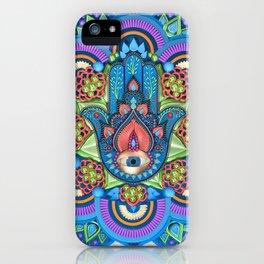 Hamsa Mandala iPhone Case