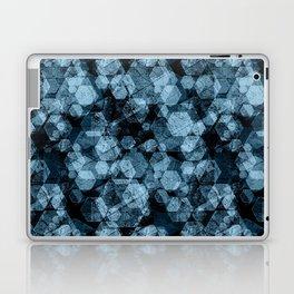 Blue hexagons. Kaleidoscope Laptop & iPad Skin
