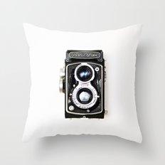 Yashica Retro Vintage Camera Throw Pillow
