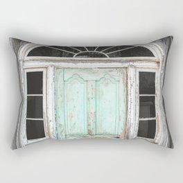 Barn Door Vintage Turquoise Rectangular Pillow