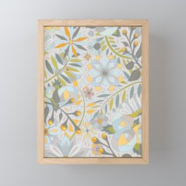 Faded Summer Blossoms Framed Mini Art Print