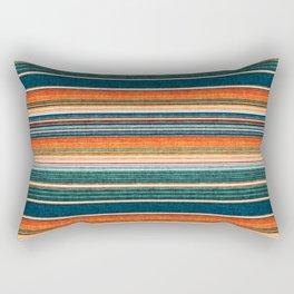 serape southwest stripe - orange & dark teal Rectangular Pillow