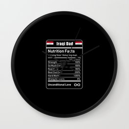 Iraqi Dad Nutrition Facts Fathers Day Wall Clock