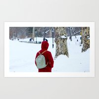 Snow in Central Park XIII Art Print