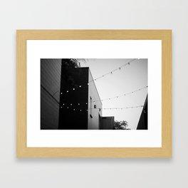string of light Framed Art Print