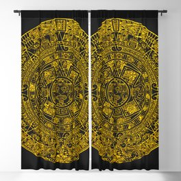 Mayan Calendar 24K Gold Blackout Curtain