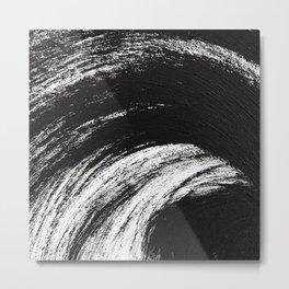Black an White Metal Print