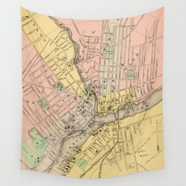 Vintage Map of Bangor ME (1894) Wall Tapestry