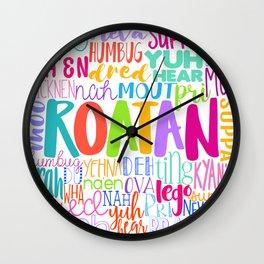 ROATÁN - ISLAND SLANG Wall Clock
