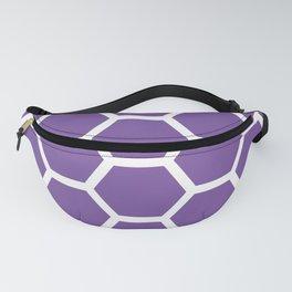 Purple Honeycomb Fanny Pack