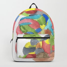 Life and Meaning 6| Abstract Watercolors Backpack