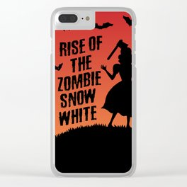 Halloween Zombie Snow White Humor Horror Clear iPhone Case