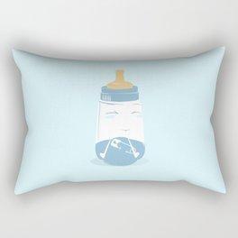 Baby bottle with diaper Rectangular Pillow