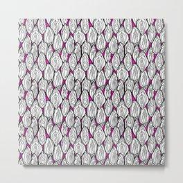 Vagina - Rama, White with Pink Metal Print