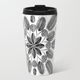 Trilobite and Fossil Mandala, Collage using Ernst Haeckel illustrations Travel Mug