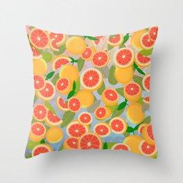 Grapefruit Song Throw Pillow