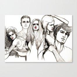 Bad crowd Canvas Print