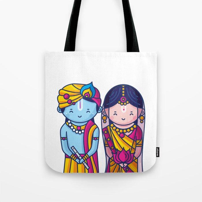 Image of: Baby Cute Radha Krishna Tote Bag Cute Radha Krishna Tote Bag By Scdbalaji Society6