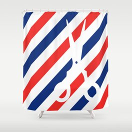 Barber Scissors Shower Curtain