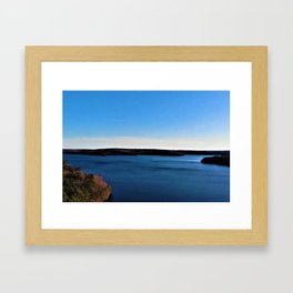 Aerial View of the Scituate Reservoir, Scituate, Rhode Island Framed Art Print