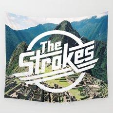 The Strokes Logo Machu Picchu Wall Tapestry