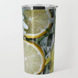 Yellow installation with lemon Travel Mug