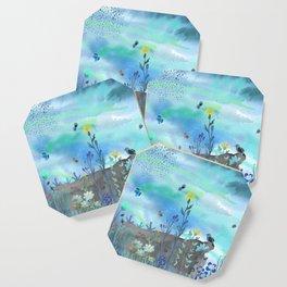 Blue Garden I Coaster