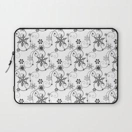 Snowflakes (Black) Laptop Sleeve