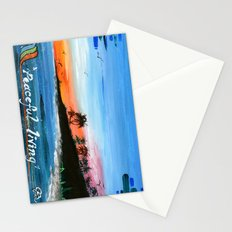 """""""PEACEFUL LIVING""""  Stationery Cards"""