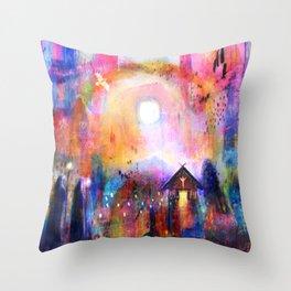 Hámfærelda  - The Road Home Throw Pillow