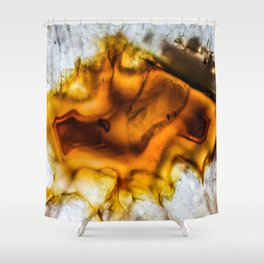 Honey Amber Agate frozen in time Shower Curtain