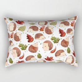 Autumn Hedgehogs Rectangular Pillow