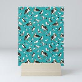 Puffins, Pelicans, and Seagulls Mini Art Print